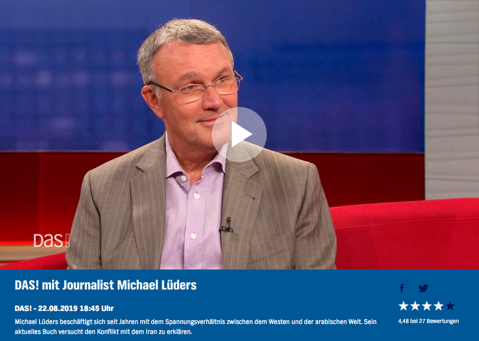"""Michael Lüders bei """"DAS"""" (NDR) am 22.08.2019"""